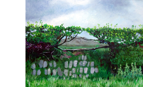 landscape - hedgerow - lkmiller